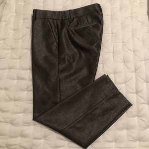 J. CREW | sz 4 shimmer grey pants